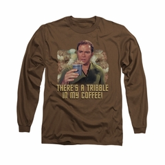 Star Trek Shirt Tribble Coffee Long Sleeve Brown Tee T-Shirt