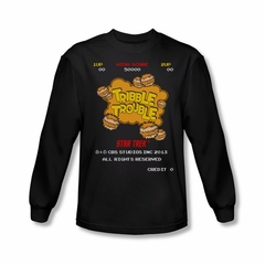 Star Trek Shirt Tribble Trouble Arcade Long Sleeve Black Tee T-Shirt