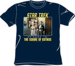 Star Trek Shirt TV Series Squire Of Gothos Episode 18 Navy Blue Tee