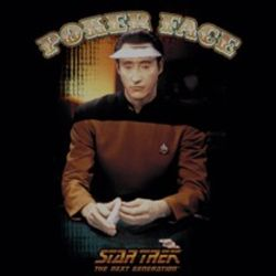 Star Trek Shirts - Data Poker Face T-Shirts