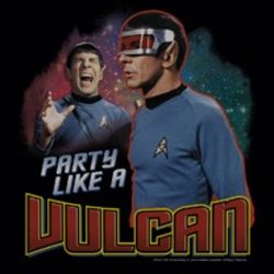 Star Trek Shirts - Party Like A Vulcan T-Shirts
