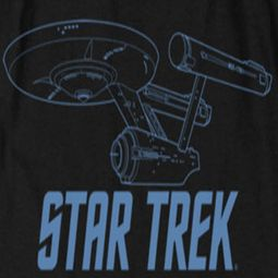 Star Trek - The Original Series Enterprise Outline Shirts