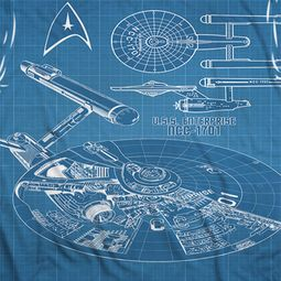 Star Trek - The Original Series Multi Angle Plans Sublimation Shirts