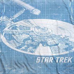 Star Trek - The Original Series Ships Blueprint Sublimation Shirts