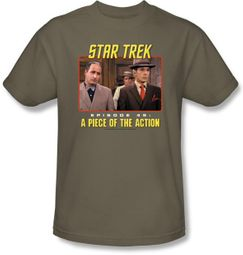 Star Trek T-shirt - A Piece Of The Action Adult Khaki