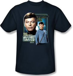 Star Trek T-shirt - Doctor McCoy Bones Adult Navy