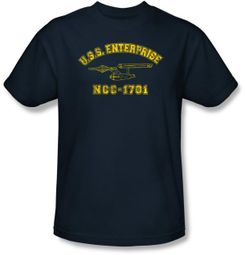 Star Trek T-shirt - Enterprise Athletic Adult Navy