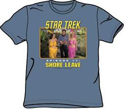Star Trek T-shirt - Episode 17 Shore Leave Adult Slate Blue