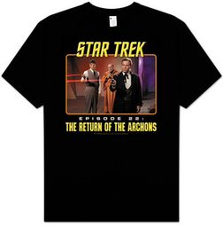 Star Trek T-shirt - Episode 22 The Return Of The Archons Adult Black