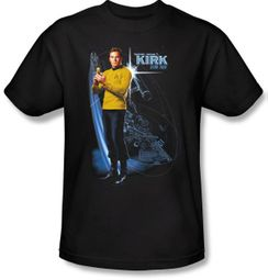 Star Trek T-shirt - Galactic Kirk Adult Collector's Black
