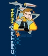 Star Trek T-shirt - Kirk Captain's Chair Adult Navy Blue