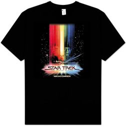 Star Trek T-shirt - Motion Picture Poster Adult Black