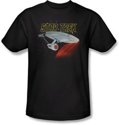 Star Trek T-shirt - Retro Enterprise Adult Black
