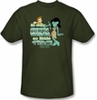 Star Trek T-shirt - So Many Green Women Adult Army Green