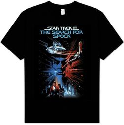 Star Trek T-shirt - Star Trek III The Search For Spock Black