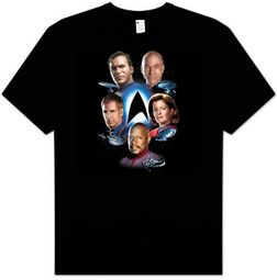 Star Trek T-shirt - Starfleet's Finest Adult Black
