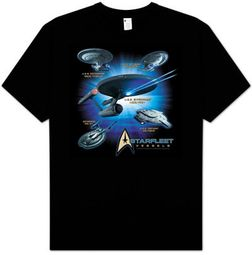 Star Trek T-shirt - Starfleet Vessels Adult Trekkie