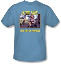 Star Trek T-shirt - TV Series Episode 25 Adult Carolina Blue