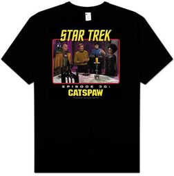 Star Trek T-shirt - TV Show Episode 30 Catspaw Adult Black