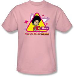 Star Trek T-shirt - Uhura Out of My Space Adult Pink