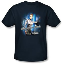 Star Trek T-shirt - Voyager Seven Of Nine Adult Navy