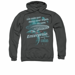 Star Trek - The Next Generation Hoodie Sweatshirt Never Forget Charcoal Adult Hoody Sweat Shirt
