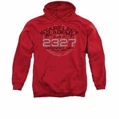 Star Trek - The Next Generation Hoodie Sweatshirt Picard Graduation Red Adult Hoody Sweat Shirt