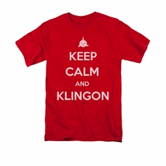 Star Trek - The Next Generation Shirt Calm Klingon Adult Red Tee T-Shirt