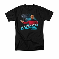 Star Trek - The Next Generation Shirt Distressed TNG Adult Black Tee T-Shirt