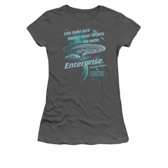 Star Trek - The Next Generation Shirt Juniors Never Forget Charcoal Tee T-Shirt