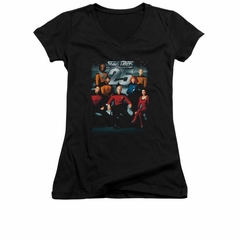 Star Trek - The Next Generation Shirt Juniors V Neck 25th Anniversary Black Tee T-Shirt