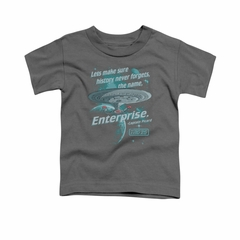 Star Trek - The Next Generation Shirt Kids Never Forget Charcoal Youth Tee T-Shirt