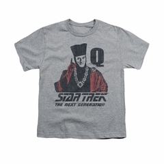 Star Trek - The Next Generation Shirt Kids Q Point Athletic Heather Youth Tee T-Shirt