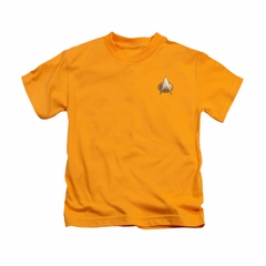 Star Trek - The Next Generation Shirt Kids TNG Engineering Emblem Gold Youth Tee T-Shirt