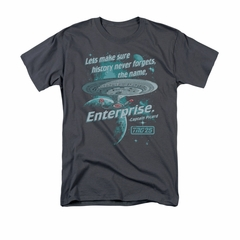 Star Trek - The Next Generation Shirt Never Forget Adult Charcoal Tee T-Shirt
