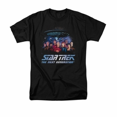 Star Trek - The Next Generation Shirt Space Group Adult Black Tee T-Shirt