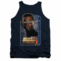 Star Trek - The Next Generation Tank Top Geordi Laforge Navy Tanktop
