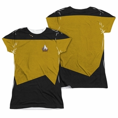 Star Trek - The Next Generation TNG Engineering Uniform Sublimation Juniors Shirt Front/Back Print