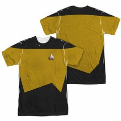 Star Trek - The Next Generation TNG Engineering Uniform Sublimation Shirt Front/Back Print