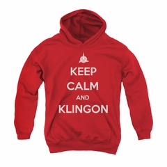 Star Trek - The Next Generation Youth Hoodie Calm Klingon Red Kids Hoody
