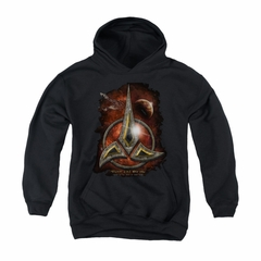 Star Trek - The Next Generation Youth Hoodie Klingon Crest Black Kids Hoody