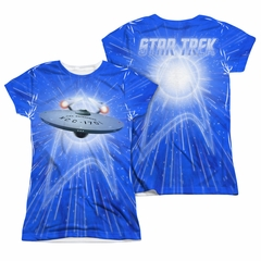 Star Trek - The Original Series All She's Got Sublimation Juniors Shirt Front/Back Print