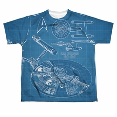 Star Trek - The Original Series Multi Angle Plans Sublimation Kids Shirt Front/Back Print