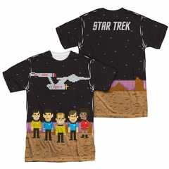 Star Trek - The Original Series Pixel Crew Sublimation Shirt Front/Back Print