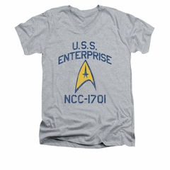 Star Trek - The Original Series Shirt Collegiate Arch Adult Heather Athletic Heather Tee T-Shirt