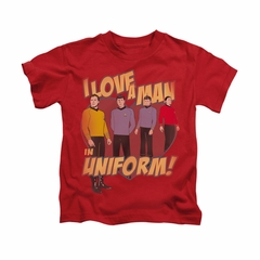 Star Trek - The Original Series Shirt Kids Man In Uniform Red Youth Tee T-Shirt