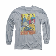 Star Trek - The Original Series Shirt Vintage Collage Long Sleeve Athletic Heather Tee T-Shirt