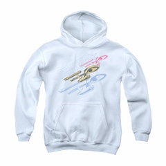 Star Trek - The Original Series Youth Hoodie Retro Tri Enterprise White Kids Hoody