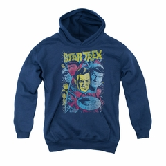 Star Trek Youth Hoodie Comic Illustration Navy Kids Hoody