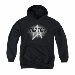 Star Trek Youth Hoodie Glow Logo Black Kids Hoody